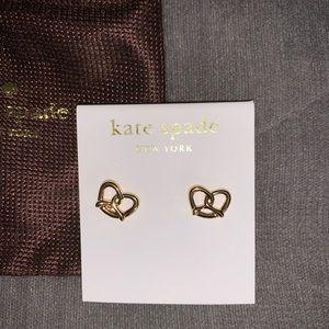 Kate Spade Goldtone Pretzel Stud Earrings